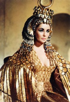 Liz Taylor as Cleopatra. I'm really into the gold scaling, kind of mermaidy and kind of feathery.