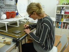 Cleaning up. Bead Shop, Silver Jewellery, Clean Up, Amy, Oxford, Studio, School, Studios, Oxfords
