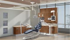 A-dec Inspire dental furniture. Featured dental office decor: Amber Cherry laminate, Beige Tempest solid surface countertop.  http://a-dec-inspire.com/