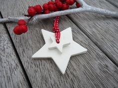 Christmas Clay Stary Star Ornament Set of 3 Christmas Tree