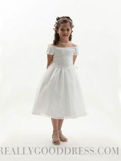 A-line Off-the-shoulder Organza Flower Girl Dresses