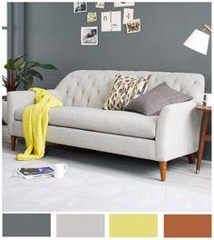 Sencillez en su totalidad gracias a sus tonos neutros y realzada por la belleza de la madera y el amarillo.