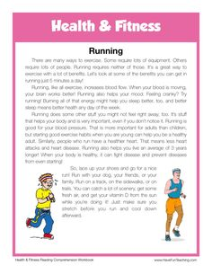 This Reading Comprehension Worksheet - Running is for teaching reading comprehension. Use this reading comprehension story to teach reading comprehension. Reading Lessons, Kids Reading, Teaching Reading, Reading Comprehension Games, Reading Passages, English Writing Skills, English Reading, English Stories For Kids, English Story