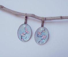 Sakura earrings Handmade jewelry