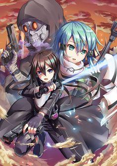 Death Gun, Sinon & Kirito   Sword Art Online