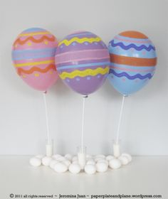 Easter balloon decorations #party ideas