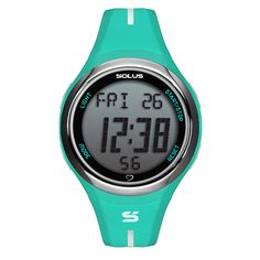 SOLUS LEISURE 920 - FINGER TOUCH HEART RATE MEASUREMENT - ALARM AND HOURLY CHIME - DATE - ABS CASE AND PU STRAP - EL BACKLIGHT - 5 ATM