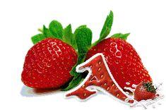 Alfabeto tintineante con fresas.