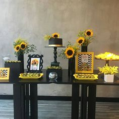 Ideas For Birthday Girl Party Planning Sunflower Birthday Parties, Sunflower Party, Sunflower Baby Showers, Sunshine Birthday, Little Girl Birthday, Party Decoration, Fiesta Party, Baby Decor, Party Planning