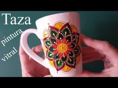 Dot Art Painting, Mandala Painting, Ceramic Painting, Glass Ceramic, Ceramic Mugs, Mandala Art Lesson, Stained Glass Paint, Mug Art, Stone Crafts