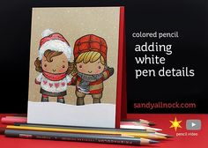 Adding White Pen Details on Colored Pencil When coloring on Desert Storm or any colored cardstock, white pencil definitely shows up nicely. But add some white PEN to it and watch the magic h…