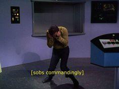 Me, when my favorite character dies. Star Trek Tos, Star Wars, Sara Ryder, Kaidan Alenko, James T Kirk, Commander Shepard, Star Trek Original, The Final Frontier, Kids Ride On