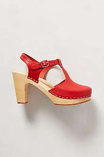 Anthropologie - Sky High T-Strap Clogs