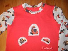 Applikation Cars Schlafanzug applique Carla näht