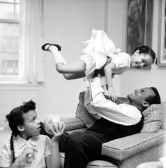 harry belafonte (b. 1927); with his children during the civil rights movement. grew up in jamaica, became the king of calypson, singer/songwriter/social activist.