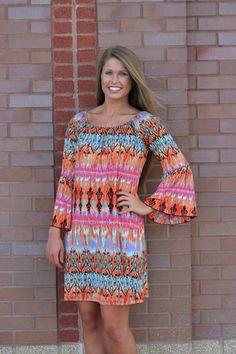 Colors of Spring Damask Tunic/Dress- ORANGE, $38.00