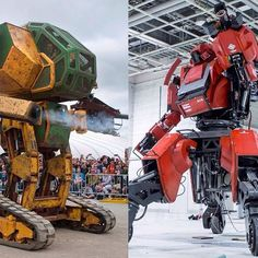 Remember #PacificRim? Giant battle #droids kicking the hell out of monsters? Well, that's (almost) becoming a reality: Giant bots built in Japan and America are set to go head-to-head in combat.  Last week, the maker of #Megabot Mark II, #Megabots Inc, ch