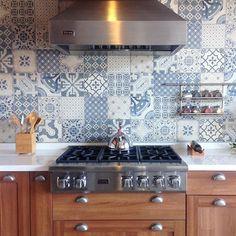❥ Tile crush ¡Amor total con esta cocina y mosaicos! ¿Quién dice yo?