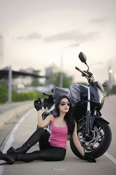 Girl & Honda CB650F Er6n, Biker Girl, Honda, Motorcycles, Steel, Women, Girls, Toddler Girls, Daughters