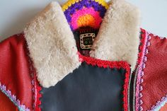 Katie Jones, upcyled leather and knits