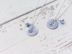 Elegant Sterling Silver Initial Necklace by TheLittleHomebird
