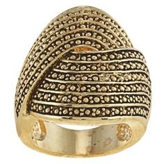 @Overstock.com - Goldtone Antiqued Large Swirl Pave Design Ring - Large swirl pave design ringGoldtone brass jewelryClick here for ring sizing guide  http://www.overstock.com/Jewelry-Watches/Goldtone-Antiqued-Large-Swirl-Pave-Design-Ring/6654981/product.html?CID=214117 $11.69