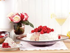 Frozen meringue cake with raspberry-balsamic syrup  Photo by Roberto Caruso
