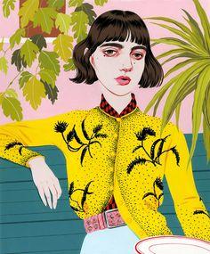 Portrait Illustration Bijou Karman is an artist Illustration Mode, Portrait Illustration, Illustration Fashion, Fashion Illustrations, Guache, Grafik Design, Illustrations And Posters, Art Plastique, Portrait Art