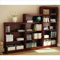 South Shore 3 Piece Bookcase Set in Royal Cherry