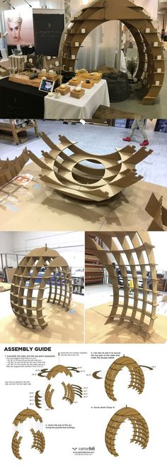 Stand oval-shaped for organic cosmetic beauty treatments Ayuna designed in cardboard by Cartonlab. #stand #cardboardstand #remarkable
