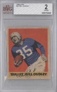 Bill Dudley BVG GRADED 2 Detroit Lions (Football Card) 1949 Leaf #22 by Leaf. $19.00. 1949 Leaf #22 - Bill Dudley BVG GRADED 2