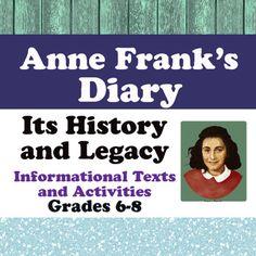 anne frank diary of a young girl project ideas comprehension tests activities printable. Black Bedroom Furniture Sets. Home Design Ideas