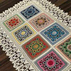 Home Decor Crochet Patterns Part 170 - Beautiful Crochet Patterns and Knitting Patterns Crochet Table Runner Pattern, Crochet Mandala Pattern, Crochet Square Patterns, Crochet Cardigan Pattern, Crochet Tablecloth, Crochet Squares, Crochet Blanket Patterns, Crochet Doilies, Knitting Patterns