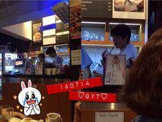 [Fantaken] 140714 #인피니트 Sungyeol at his BBQ restaurant by nonamexggg pic.twitter.com/iS5Zu6vK4y