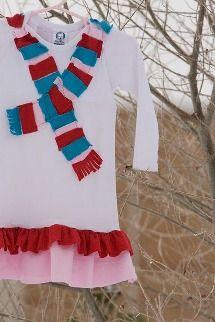 Tutorial: Winter Wonderland t-shirt dress for little girls