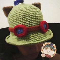 Finally have my own Teemo hat! the pattern for this can be found here...http://www.cutoutandkeep.net/projects/league-of-legends-crochet-teemo-hat