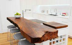 Το ανεπεξέργαστο ξύλο ταιριάζει σε κουζίνες με ρούστικ διακόσμηση