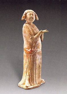 A painted pottery figure of a servant girl, tall, Tang Dynasty Terracota, Painted Pottery, Pottery Painting, Pottery Sculpture, Sculpture Art, China Art, Chinese Ceramics, Ancient China, Chinese Antiques