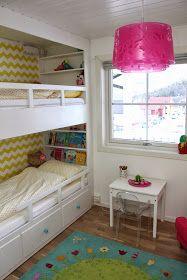 hvitstil.com: Plassbygd seng til jenterommet Cozy Bedroom, Dream Bedroom, Kids Bedroom, Bedroom Decor, Wall Decor, Bedroom Dressers, Minimalist Bedroom, Looks Cool, Tumblr Rooms