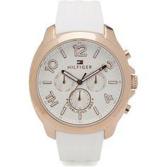 •Schöne Uhr in Weiß von Tommy Hilfiger.  Ab 179,00 €  ♥ Hier kaufen: http://stylefru.it/s96508
