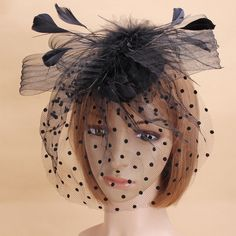Bride Women Dot Black White Feather Mesh Fascinator Wedding Party Headpieces is cheap, see other hair accessories on NewChic. Wedding Events, Wedding Decor, White Feathers, Fascinator, Headpieces, Dots, Hair Accessories, Bride, Black And White