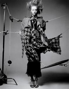 Fashion Editorial - b&w fashion photography // Gemma Ward by Craig McDean for Vogue Italia