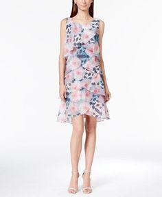 ad74e726a93 Tiered Tulip Printed Chiffon Dress