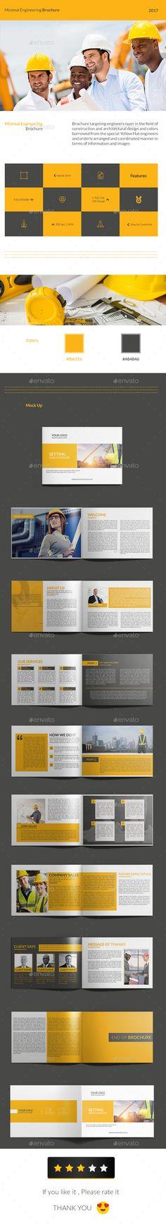 Minimal Engineering Brochure Design Template - Corporate Brochures Design Template PSD. Download here: https://graphicriver.net/item/minimal-engineering-brochure/19385241?ref=yinkira