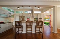 Above Cabinet Windows Design Ideas, Pictures, Remodel, and Decor