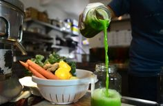 cucumber lemon, celery, spinach and kale juice