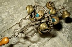 Victorian Baby Rattle, with bells and whistle on handle-----  Where is Children's Services!!!!!!!!