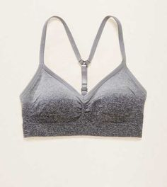 Pushup Seamless Sports  Bra. MOVE in our seamless stretch fabric. No seams for ultimate in comfort against you skin! #Aerie