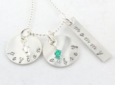 Mother's Day Gift  Personalized Birthstone by TheSilverDiva, $53.00