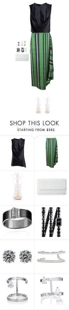 """""""Rooftop Date"""" by terrellwills ❤ liked on Polyvore featuring Ann Demeulemeester, STELLA McCARTNEY, Christian Louboutin, Nancy Gonzalez, Chanel, Eddie Borgo and Repossi"""